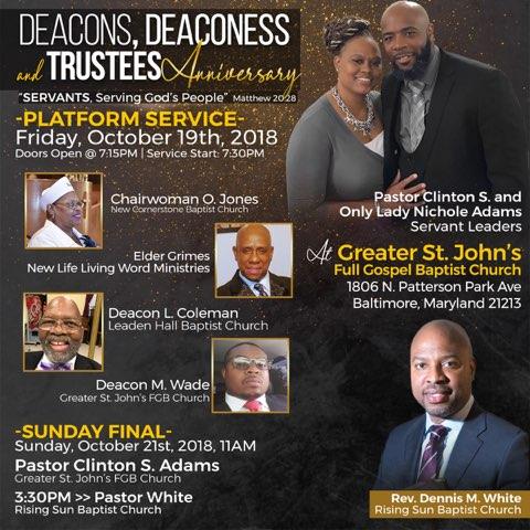 Deacons, Deaconess & Trustee Anniversary